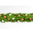 detailed christmas garland vector image vector image
