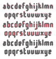 Double Line Modern Gothic Font vector image vector image