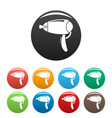 dryer icons set color vector image