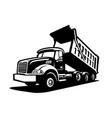 dump truck tipper truck mover vector image vector image