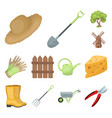 farm and gardening cartoon icons in set collection vector image