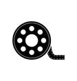 film reel icon film reel design vector image