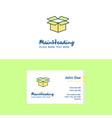 flat carton logo and visiting card template vector image vector image