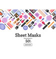 flat style different makeup and skincare vector image vector image