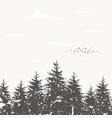 forest landscape5 vector image vector image