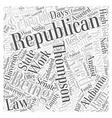 Fred Thompson Republican Word Cloud Concept vector image vector image