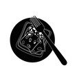 full breakfast cartoon vector image vector image
