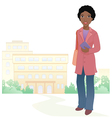 Girl student vector image vector image