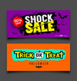 happy halloween sale colorful banners design set vector image vector image