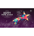 Happy new year 2016 star triangle hipster color vector image vector image