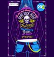 hard rock festival poster vector image vector image