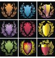 heraldry elements vector image vector image