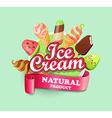 Ice cream emblem vector image vector image
