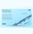isometric hyperloop transport concept banner vector image