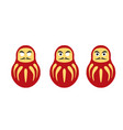 japanese daruma doll simple icon tumbler icon vector image