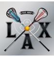 LAX Lacrosse Emblem vector image vector image