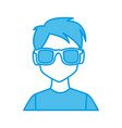 man with sunglasses profile vector image vector image