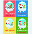 merry christmas activities vector image