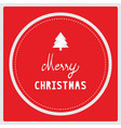 merry christmas with christmas tree on red vector image vector image