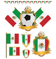 Mexico flags vector | Price: 1 Credit (USD $1)