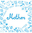 mother day lettering childrens accessories vector image