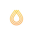 oil honey drop logo icon vector image vector image