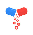 open pill like health care metaphor vector image vector image