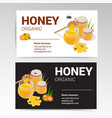 organic honey business card template white vector image