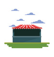 park booth in field carnival festival vector image vector image