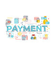 payment word lettering vector image