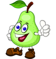 Pear cartoon character vector image