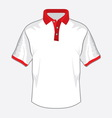 Polo majica bela crvena kragna resize vector image vector image
