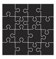 puzzle silhouette set symbol icon design vector image