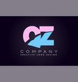 qz alphabet letter join joined letter logo design vector image vector image