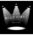Ready to sale background vector image vector image