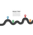road trip 3d journey with gps navigation location vector image vector image