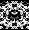 russian seamless folk pattern traditional black vector image vector image