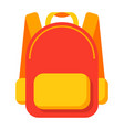 school bag icon vector image