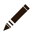 school education color crayon supply silhouette vector image vector image