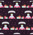 seamless pattern for valentines day with cute cars vector image