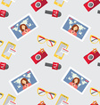 Seamless pattern of of flat journalism vector image