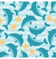 Seamless pattern with flock of cute cartoon vector image vector image