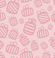 Seamless pink gift pattern vector image vector image