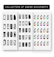 set of program file formats iconsfile extensions vector image