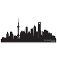Shanghai China skyline Detailed silhouette vector image vector image