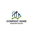 shopping bag financial logo marketing icon logo vector image vector image