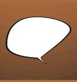 speech bubble retro background vector image vector image