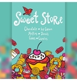 Sweet Store Background vector image vector image