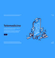 telemedicine isometric landing online medicine vector image