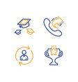 throw hats share call and person info icons set vector image vector image